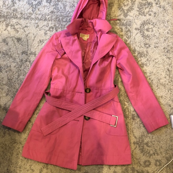 elegant in style amazing price quality products Michael Michael Kors Raincoat in Bright Pink